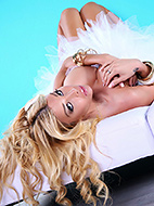 Kimber white tutu Alluring Kimber strips & poses. Kimber James.